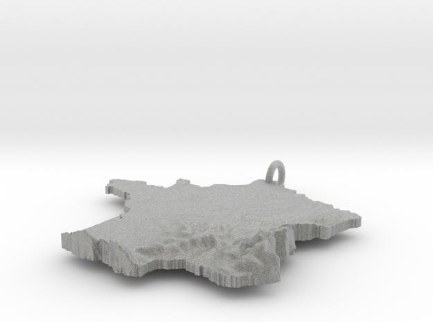 France Terrain Silver Pendant 3d printed