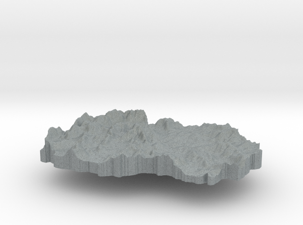 Macedonia Terrain Silver Pendant 3d printed