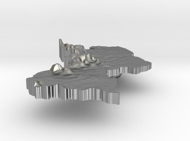 Guyana Terrain Silver Pendant