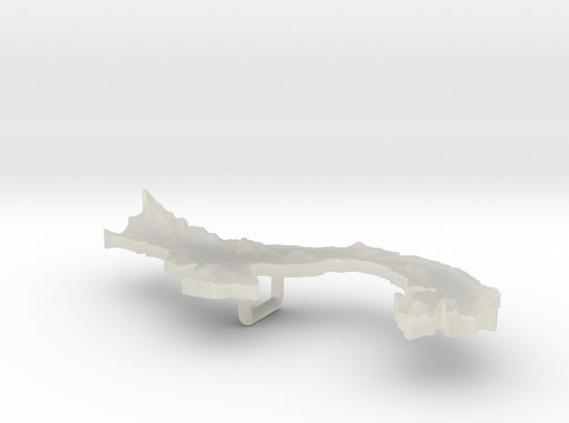 Panama Terrain Silver Pendant 3d printed