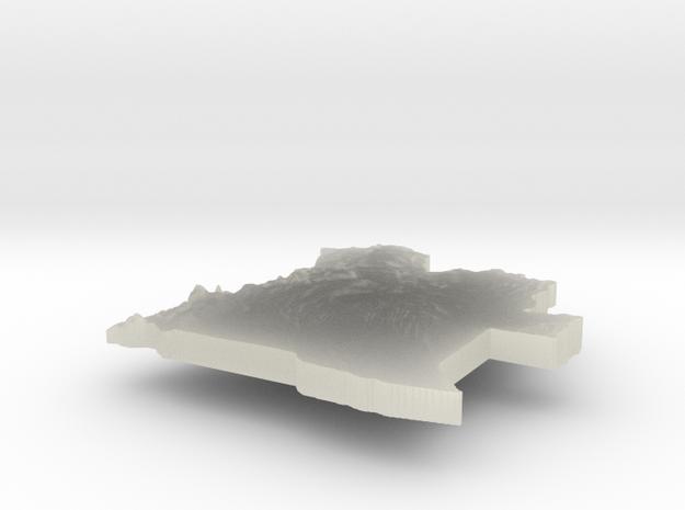 Angola Terrain Silver Pendant 3d printed
