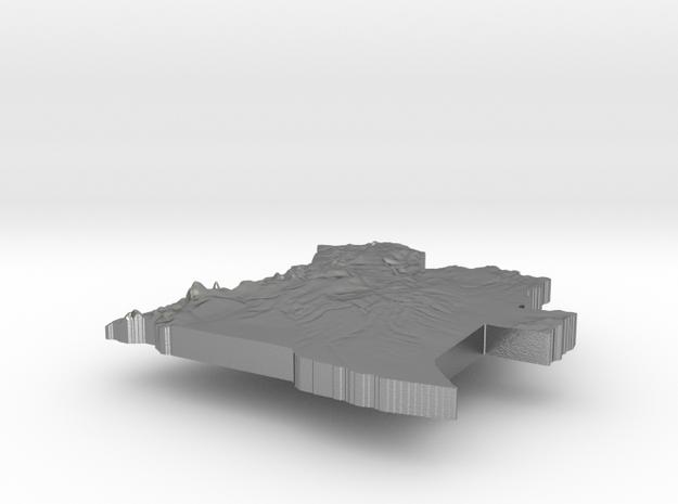 Angola Terrain Silver Pendant in Raw Silver