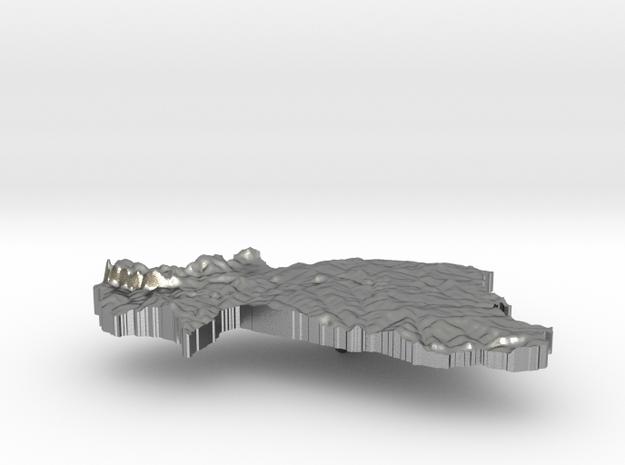 Burkina Faso Terrain Silver Pendant in Raw Silver