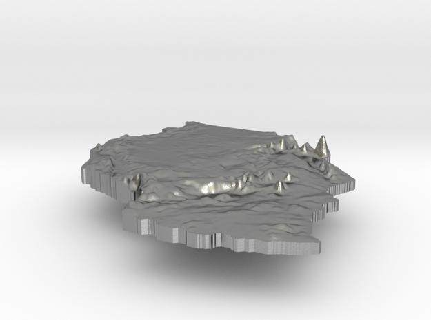 Tanzania Terrain Silver Pendant in Raw Silver
