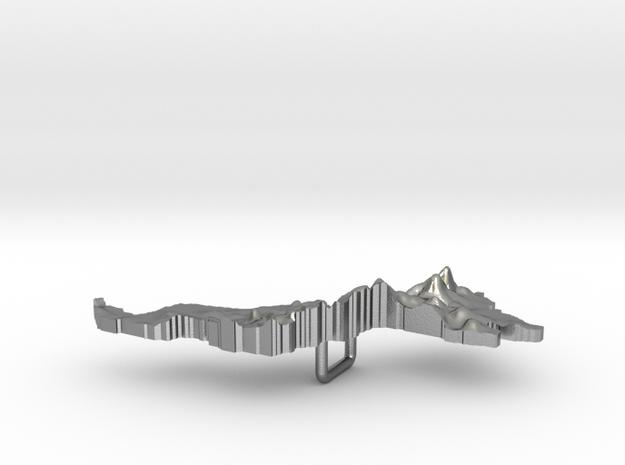 Malaysia Terrain Silver Pendant in Raw Silver