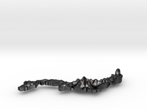 Japan Terrain Silver Pendant 3d printed