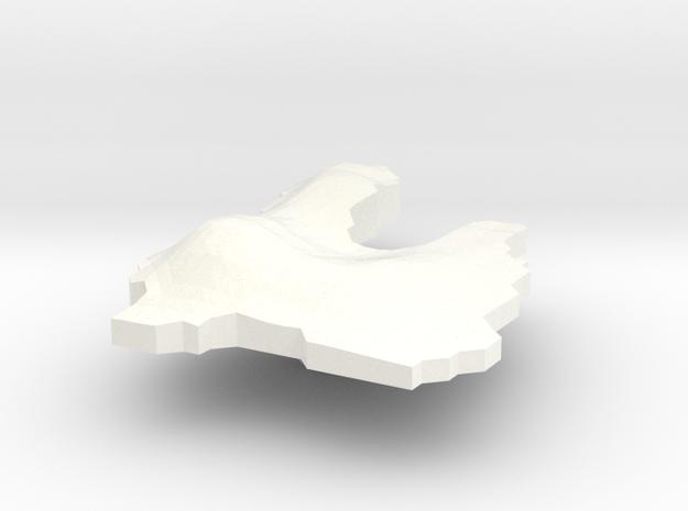 Vanuatu Terrain Silver Pendant 3d printed