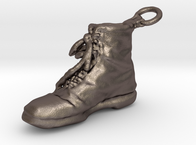 Boot Right in Polished Bronzed Silver Steel