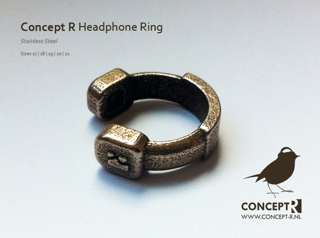 Concept R Headphone Ring in Polished Nickel Steel: 8 / 56.75