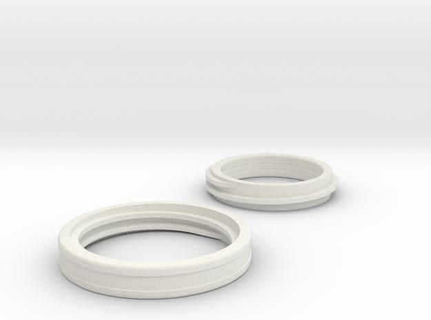 interlock ring in White Strong & Flexible