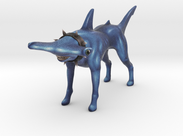 Hammerhead SharkDog in Full Color Sandstone