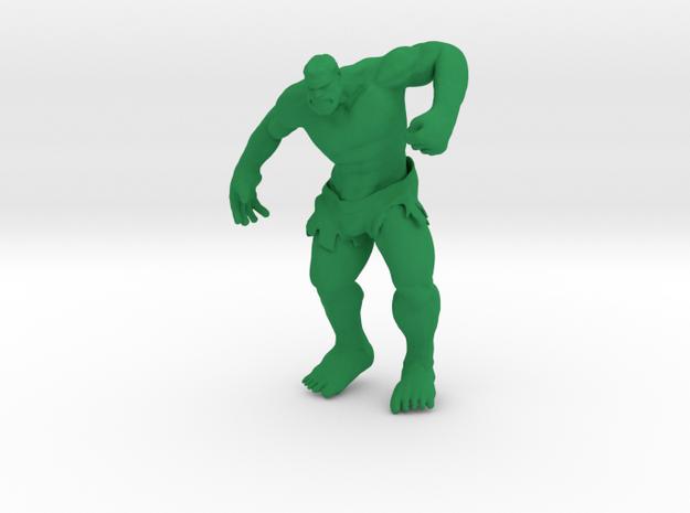 Hulking in Green Processed Versatile Plastic