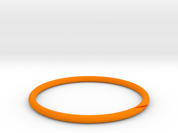 RING23MK1SIZER in Orange Processed Versatile Plastic