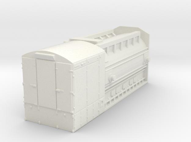 GE 7FH2 generator - load for HD flat car in White Natural Versatile Plastic