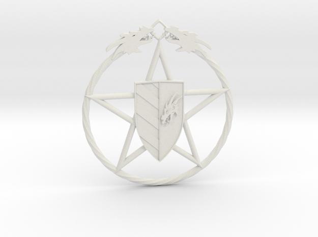 Dros Rock Magier Amulett in White Natural Versatile Plastic