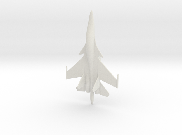 Su-34 Fullback Russian Jet 1/285 in White Natural Versatile Plastic