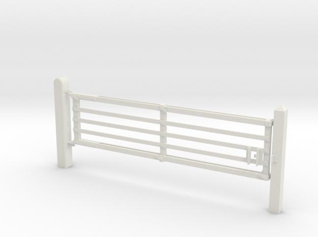 VR Yard Gates 2 Panel  in White Natural Versatile Plastic