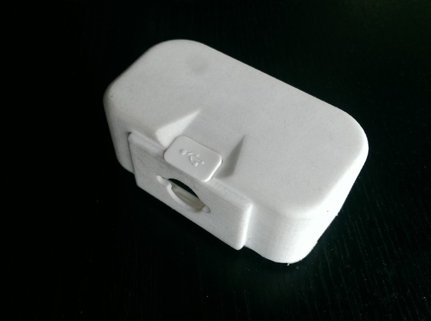 "DJI Phantom 1.5 Battery door  ""theONE""  SMALL in White Strong & Flexible Polished"