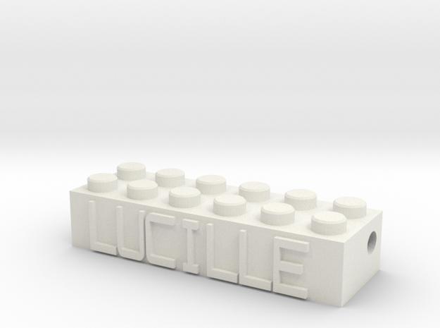 LUCILLE in White Natural Versatile Plastic