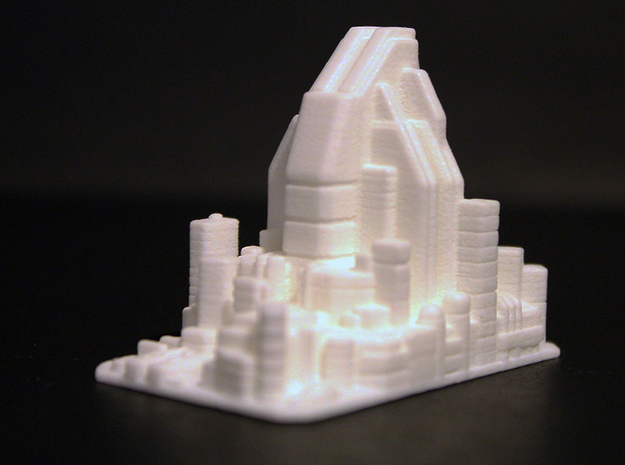 Futuristic city concept 2 - City of Minerva in White Processed Versatile Plastic