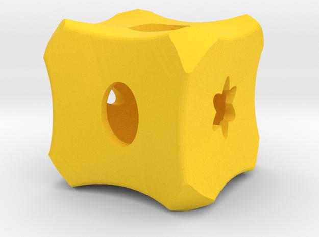 Dice125 in Yellow Processed Versatile Plastic