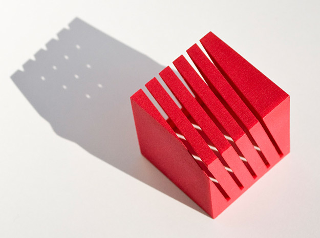 Notestand One in Red Processed Versatile Plastic