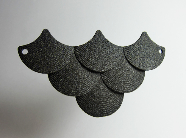 Scales Pendant in Matte Black Steel