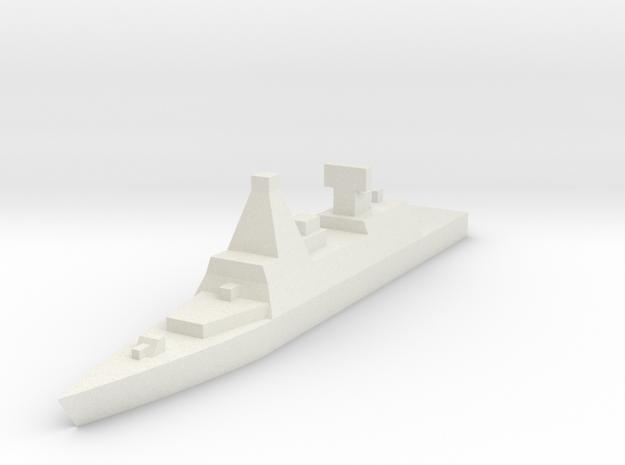 Naval, Destroyer, Generic in White Natural Versatile Plastic