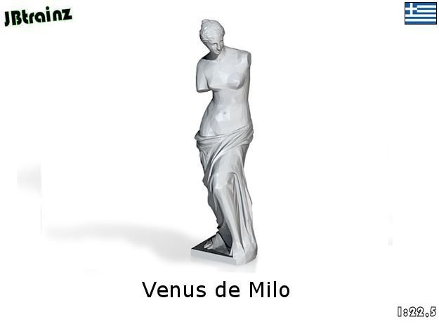 Venus de Milo (1:22,5) in White Strong & Flexible Polished