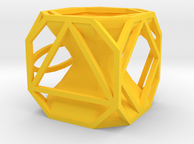 Dice126 in Yellow Strong & Flexible Polished