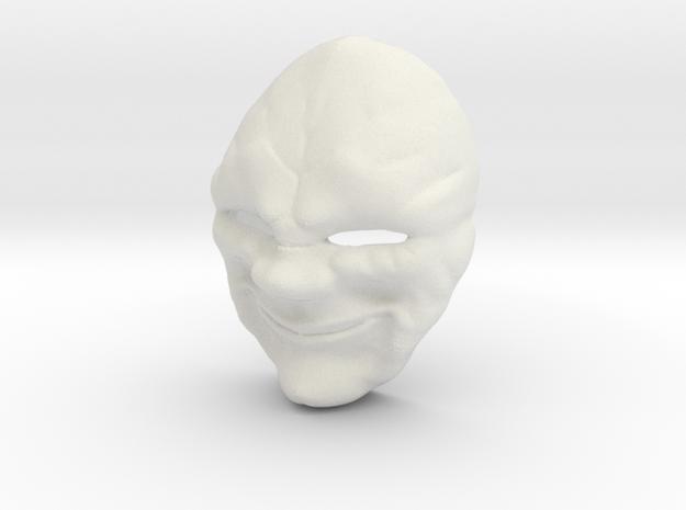 Creepy Clown Mask in White Natural Versatile Plastic