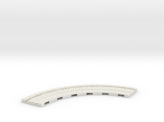 P-165st-long-curve-100r-100-1a in White Natural Versatile Plastic