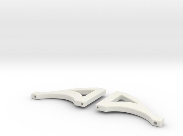 Querlenker Hinten Oben STL in White Natural Versatile Plastic