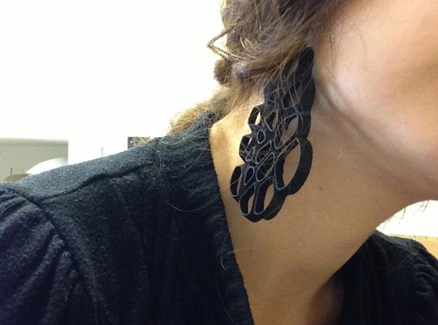 Voronoi earings 3d printed