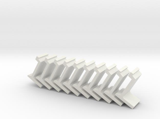 N platform wall / perronwand 1:160 10pc in White Natural Versatile Plastic