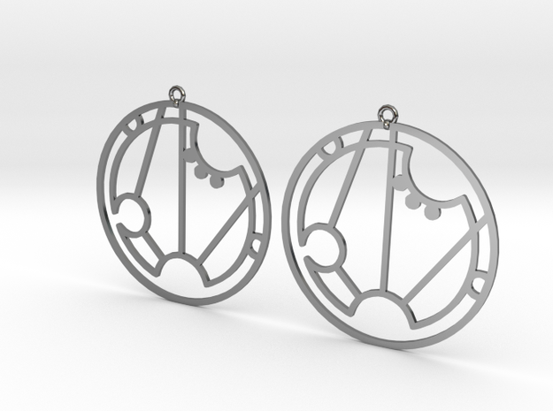 Sarah - Earrings - Series 1 in Fine Detail Polished Silver
