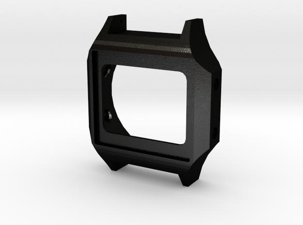 Case for OpenLCDWatch project in Matte Black Steel