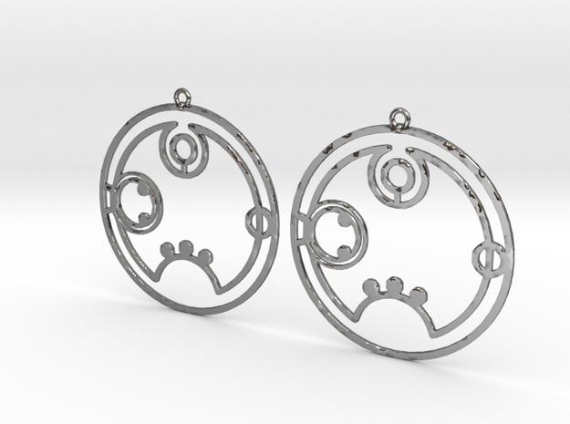 Rebecca / Rebekka - Earrings - Series 1 in Fine Detail Polished Silver
