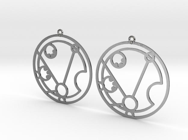 Matilda - Earrings - Series 1 in Polished Silver