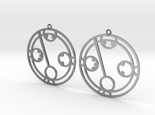 Makayla - Earrings - Series 1 in Fine Detail Polished Silver