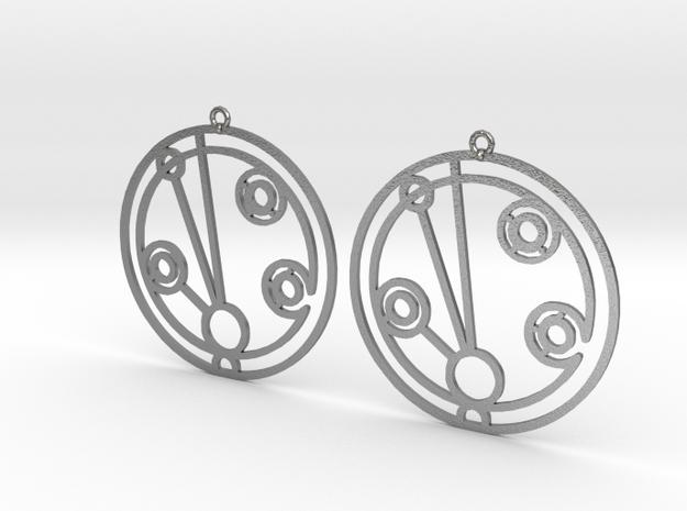 Madeleine - Earrings - Series 1 in Natural Silver
