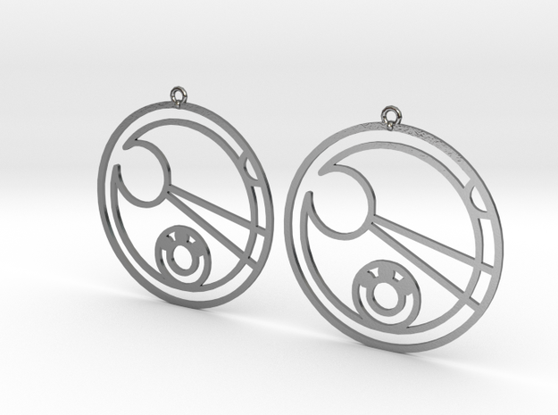 Leah - Earrings - Series 1 in Polished Silver