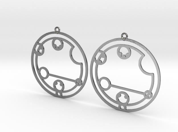 Caitlyn / Kaitlyn - Earrings - Series 1 in Polished Silver