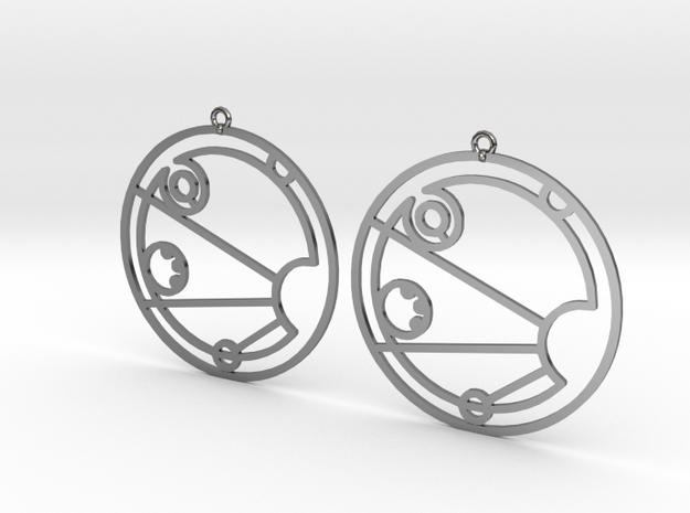 Isabel - Earrings - Series 1 in Fine Detail Polished Silver