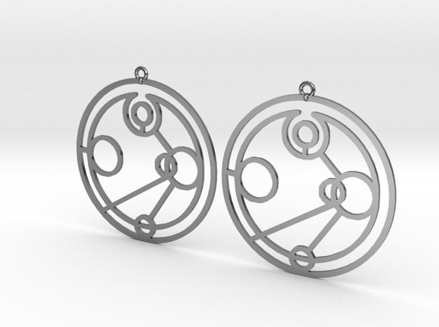 Imogen - Earrings - Series 1 in Fine Detail Polished Silver