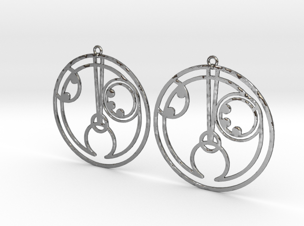 Holly - Earrings - Series 1 in Polished Silver