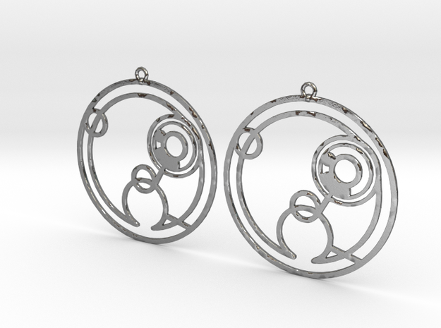 Hollie - Earrings - Series 1 in Polished Silver