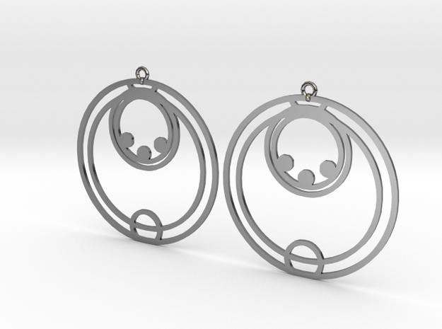 Ella - Earrings - Series 1 in Fine Detail Polished Silver