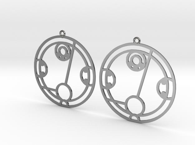 Hayley - Earrings - Series 1 in Fine Detail Polished Silver