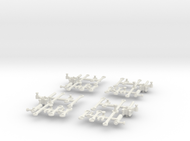 G42 Connecting Rods(O/1:48 Scale) in White Natural Versatile Plastic